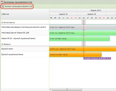 Календар iCal: нагадування, повідомлення, інформування - зв'язка з сервісом WebZvit : налагодження.